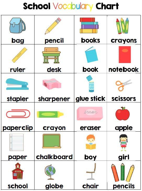 Preschool Classroom Design Tools ~ Recursos externos de idiomas vocabulario