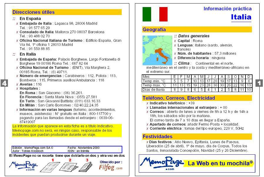 informacion italia: